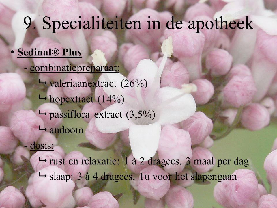 9. Specialiteiten in de apotheek
