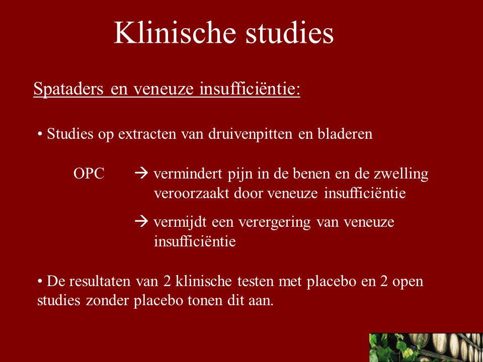 Klinische studies Spataders en veneuze insufficiëntie: