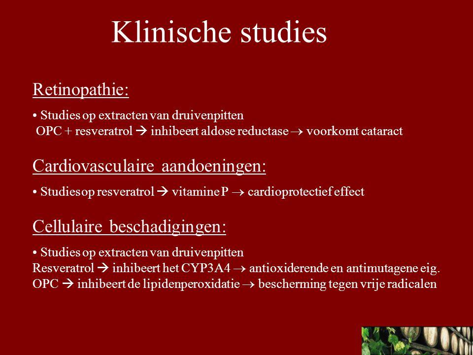 Klinische studies Retinopathie: Cardiovasculaire aandoeningen: