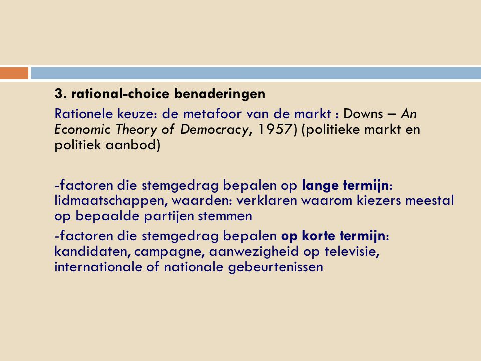 3. rational-choice benaderingen