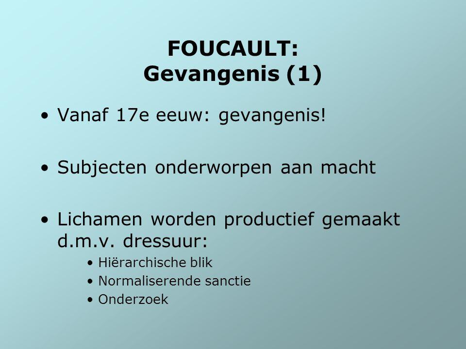 FOUCAULT: Gevangenis (1)