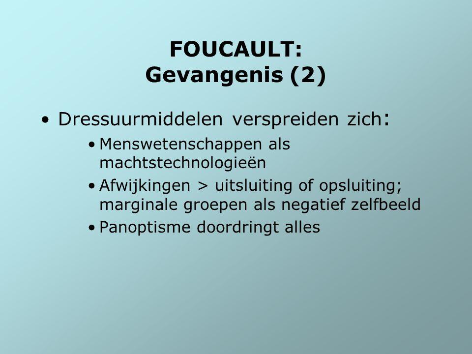 FOUCAULT: Gevangenis (2)