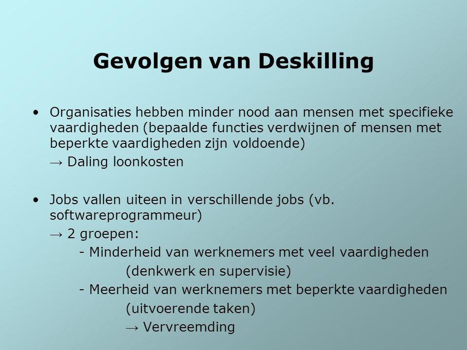 Gevolgen van Deskilling