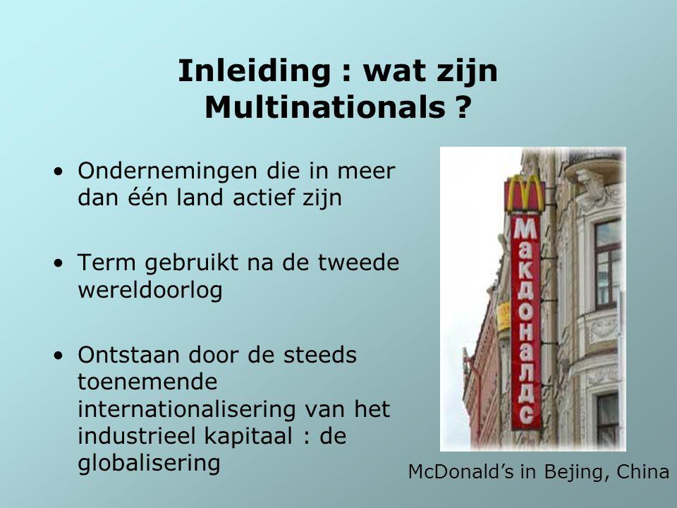 Inleiding : wat zijn Multinationals