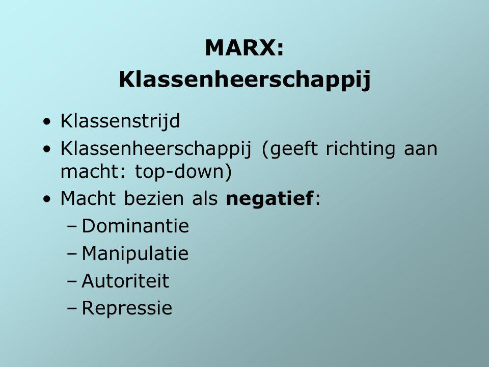 MARX: Klassenheerschappij