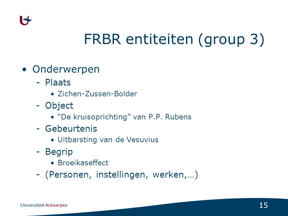 FRBR entiteiten (group 3)