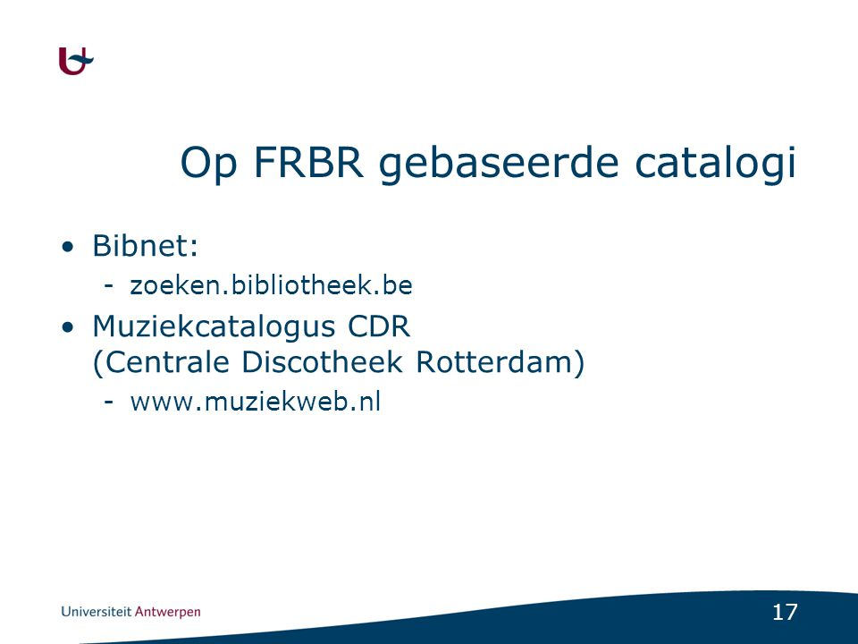 Op FRBR gebaseerde catalogi