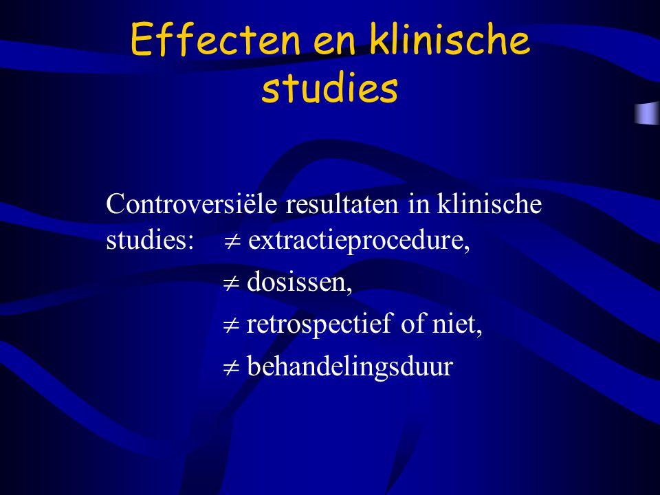 Effecten en klinische studies