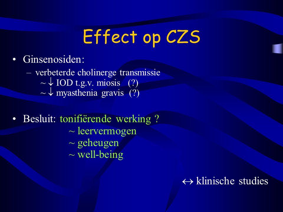 Effect op CZS Ginsenosiden: