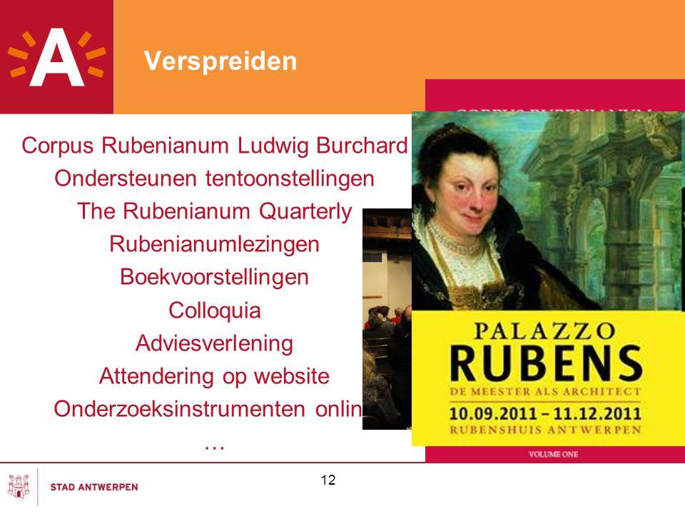 Verspreiden Corpus Rubenianum Ludwig Burchard