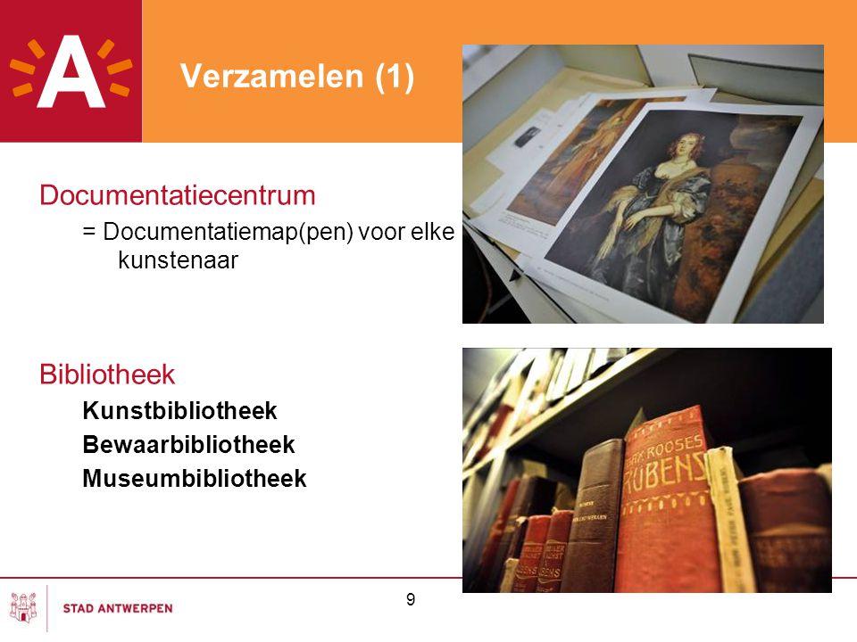 Verzamelen (1) Documentatiecentrum Bibliotheek