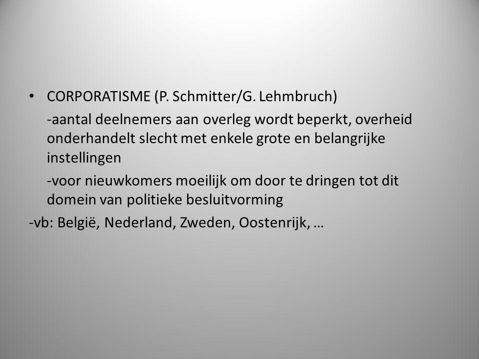 CORPORATISME (P. Schmitter/G. Lehmbruch)