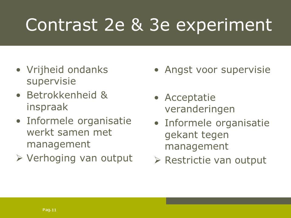 Contrast 2e & 3e experiment