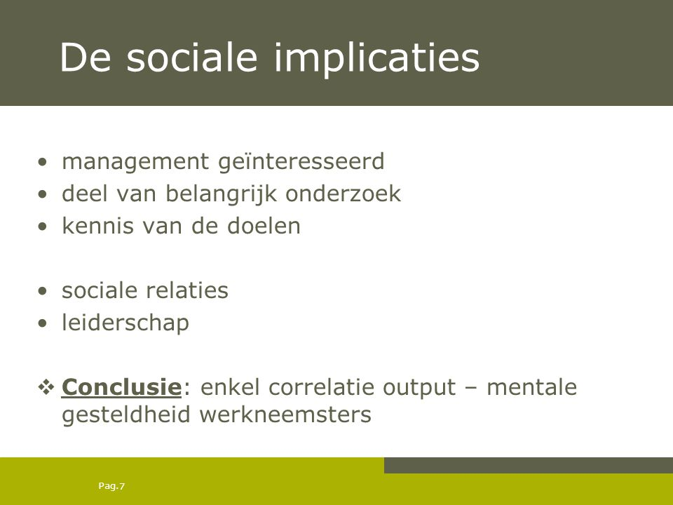 De sociale implicaties