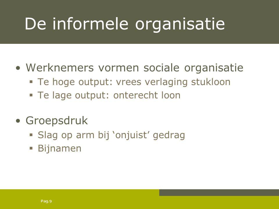 De informele organisatie