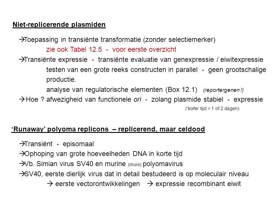 Niet-replicerende plasmiden