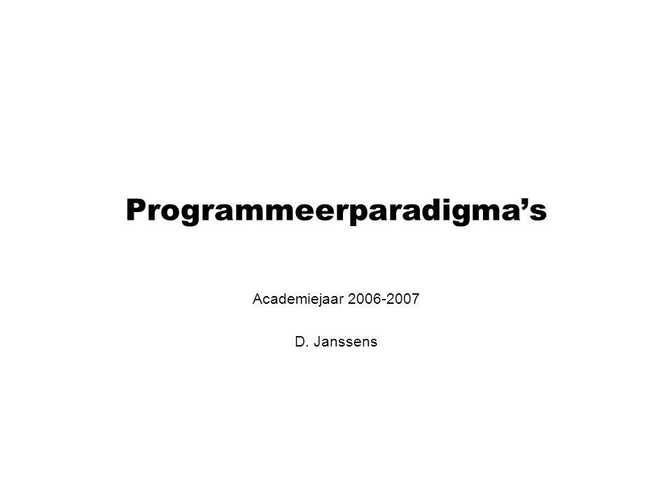 Programmeerparadigma's