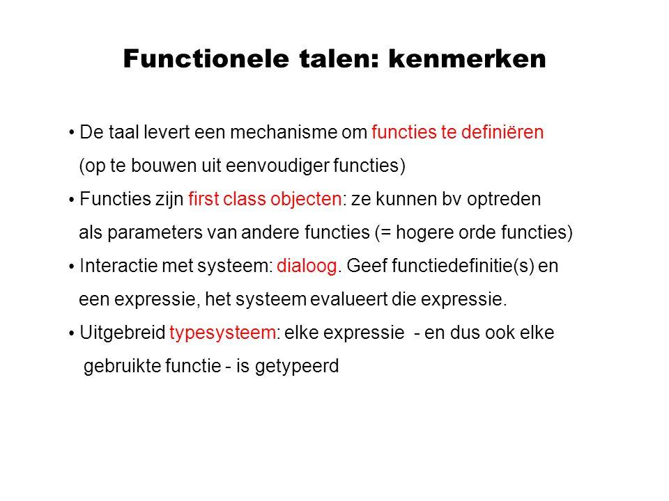 Functionele talen: kenmerken