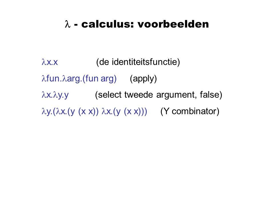  - calculus: voorbeelden
