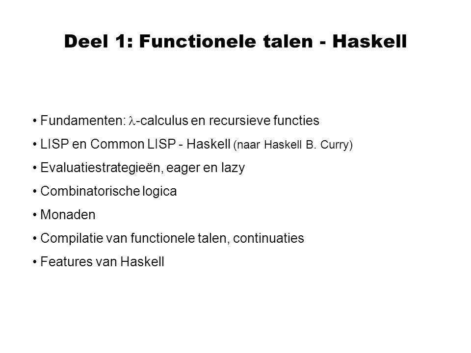 Deel 1: Functionele talen - Haskell