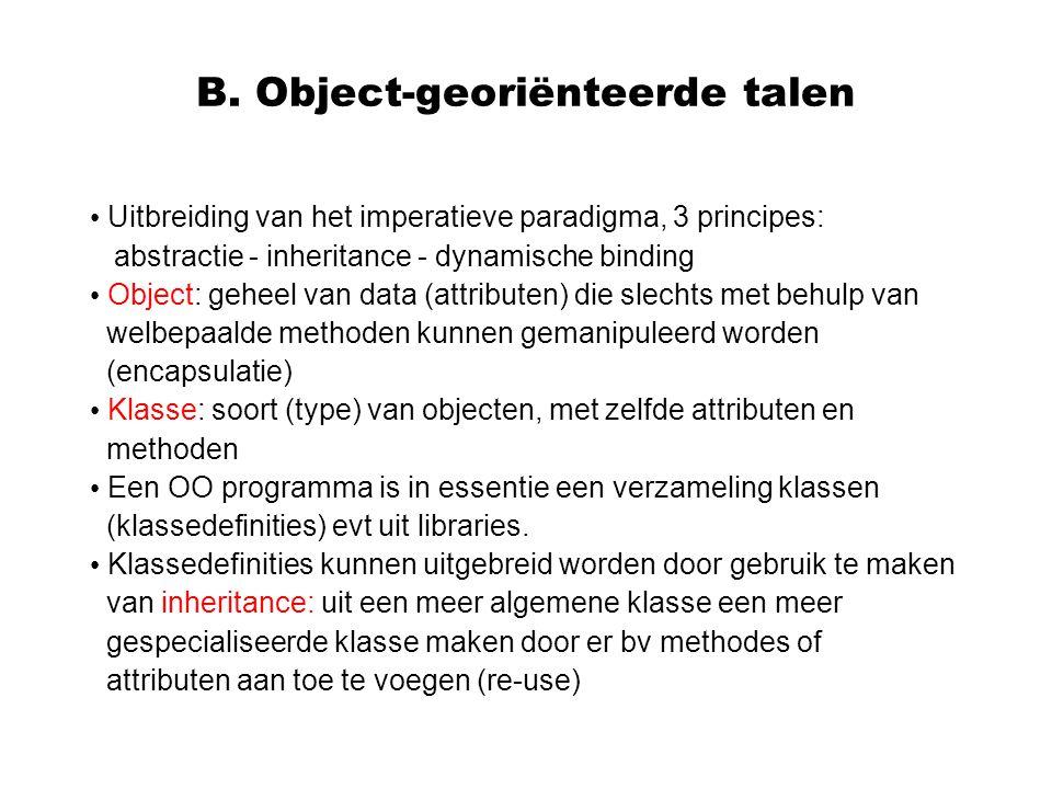 B. Object-georiënteerde talen