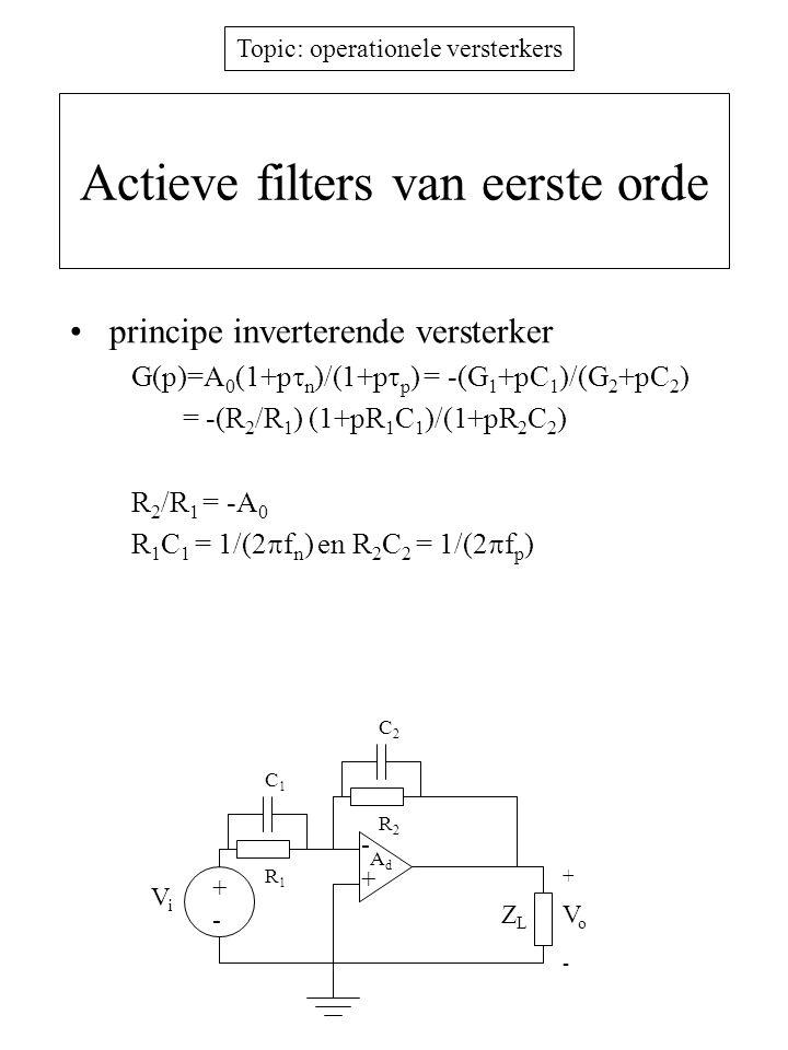 Actieve filters van eerste orde