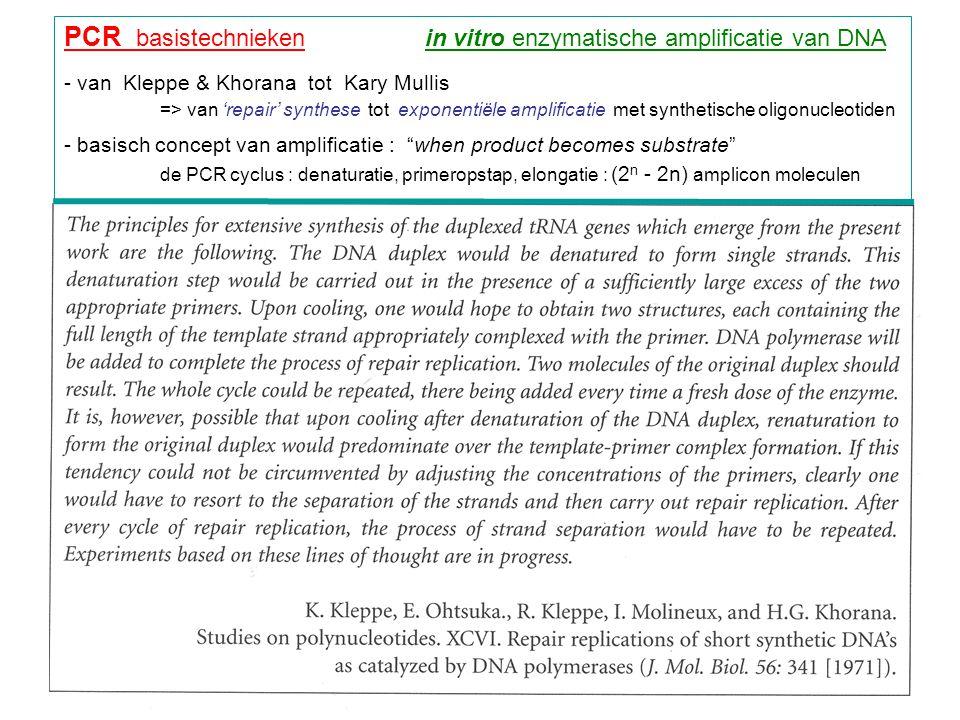 PCR basistechnieken in vitro enzymatische amplificatie van DNA