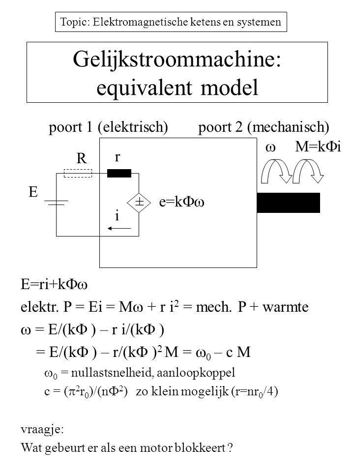 Gelijkstroommachine: equivalent model