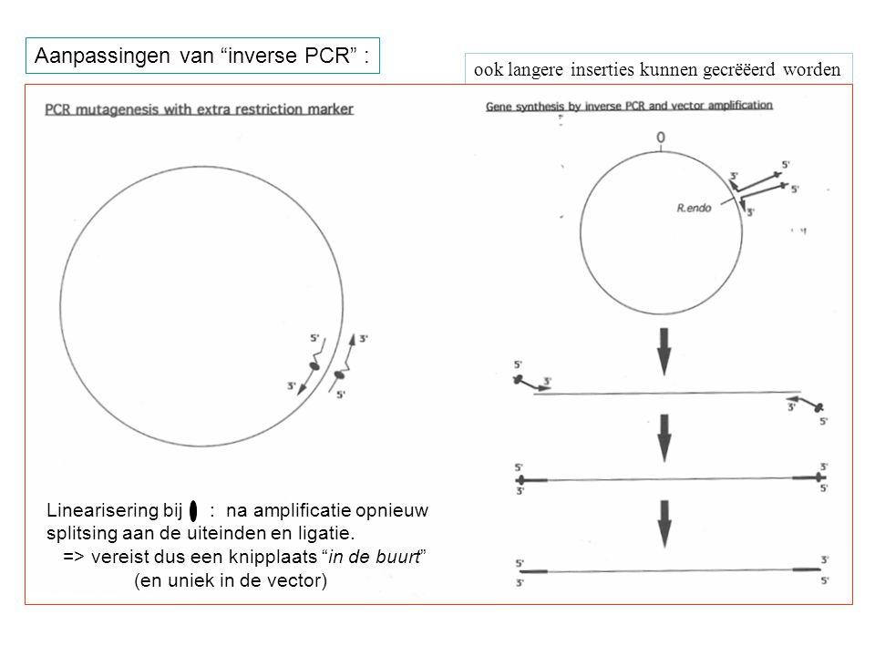 Aanpassingen van inverse PCR :