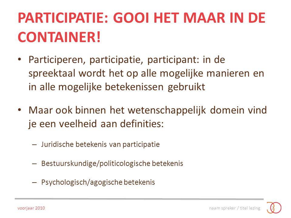 Participatie: gooi het maar in de container!
