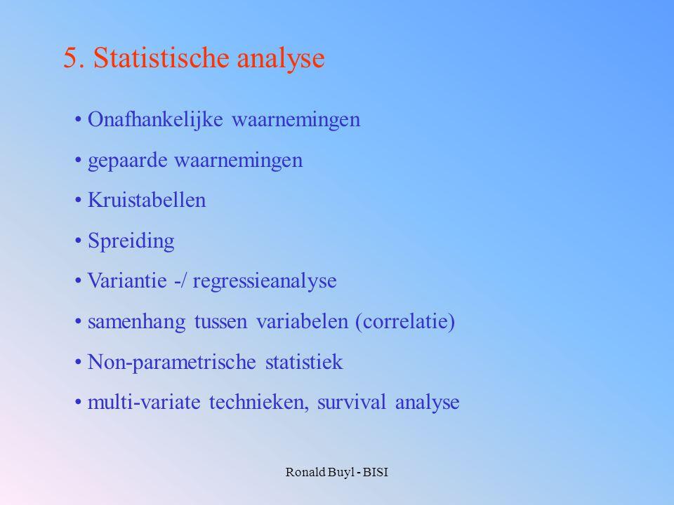 5. Statistische analyse Onafhankelijke waarnemingen