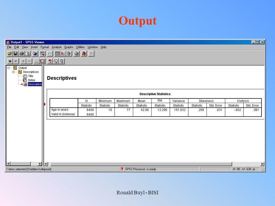 Output Ronald Buyl - BISI