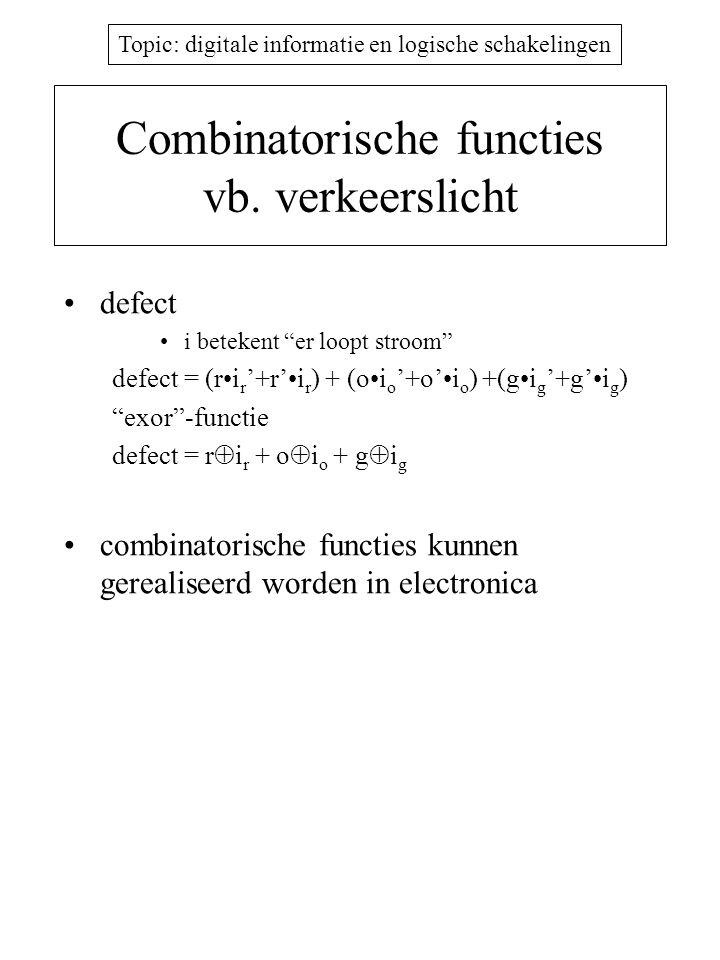 Combinatorische functies vb. verkeerslicht