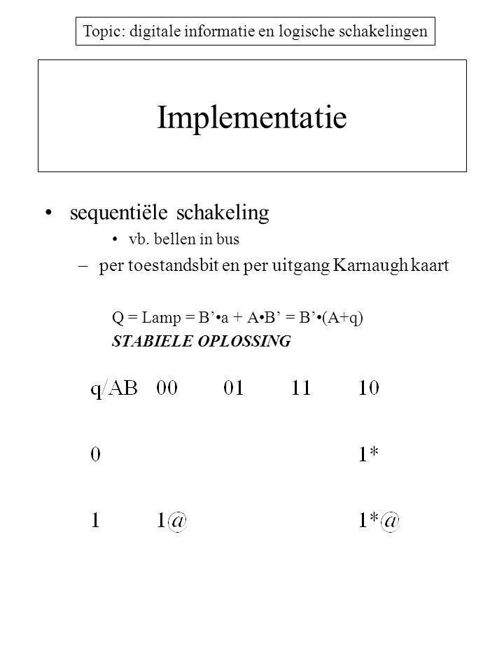 Implementatie sequentiële schakeling