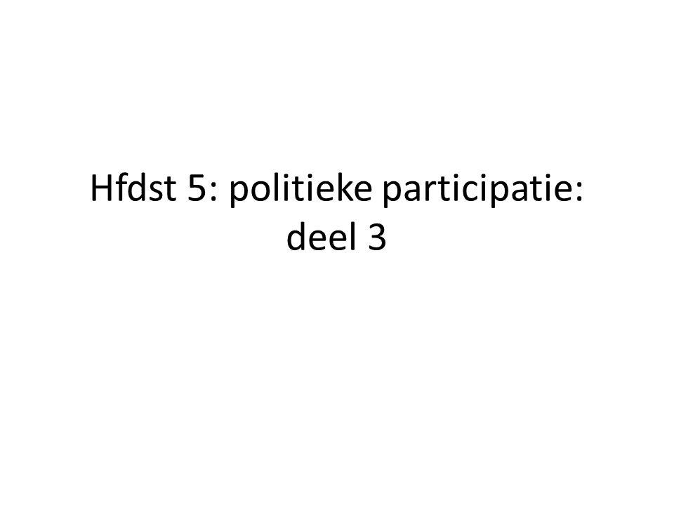 Hfdst 5: politieke participatie: deel 3