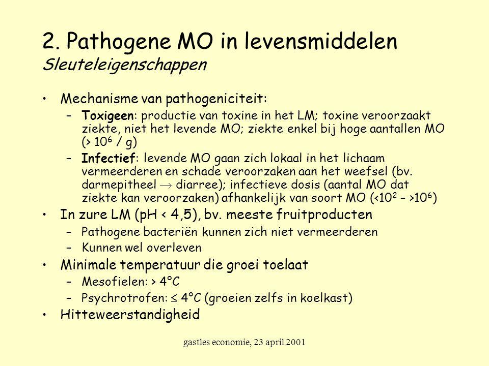 2. Pathogene MO in levensmiddelen Sleuteleigenschappen