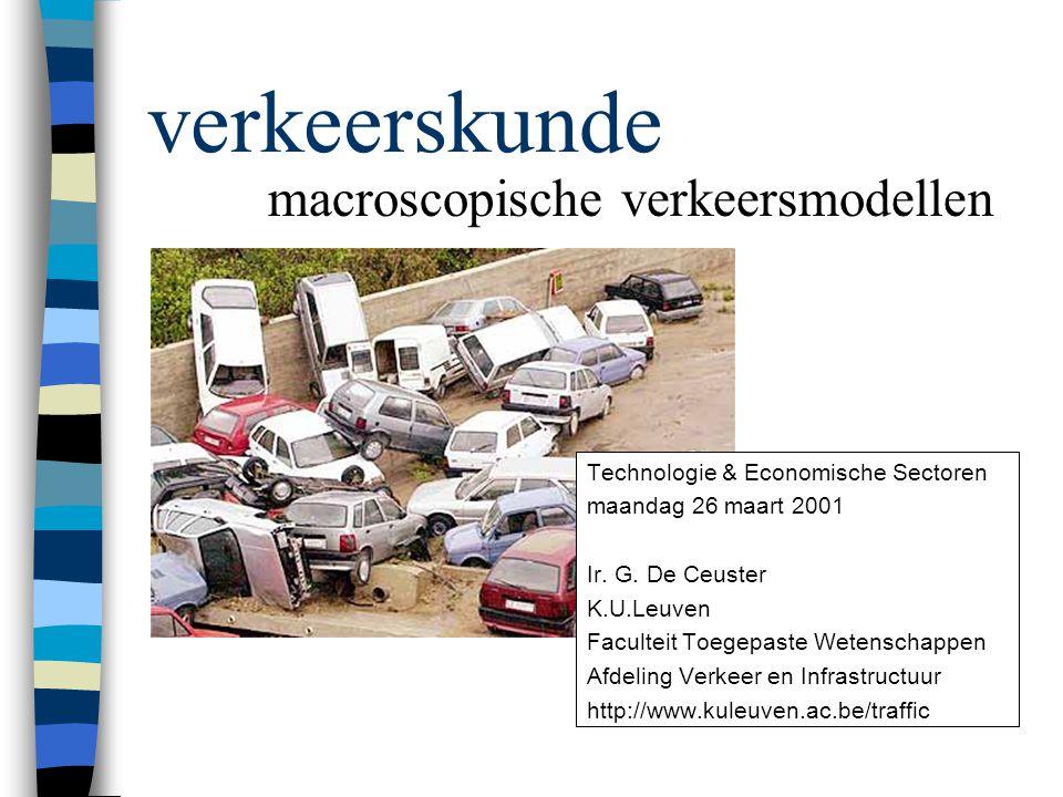 verkeerskunde macroscopische verkeersmodellen