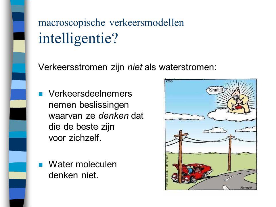macroscopische verkeersmodellen intelligentie