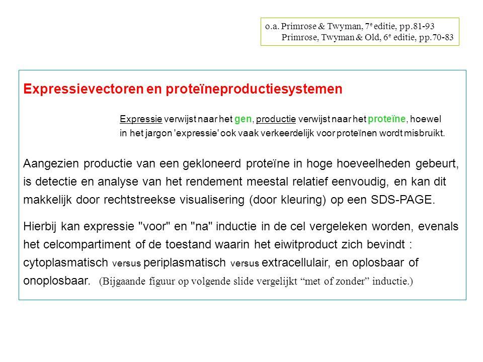 Expressievectoren en proteïneproductiesystemen