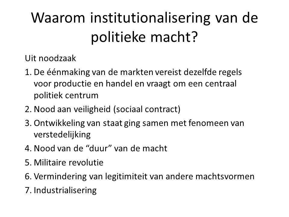 Waarom institutionalisering van de politieke macht