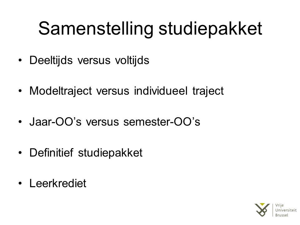 Samenstelling studiepakket