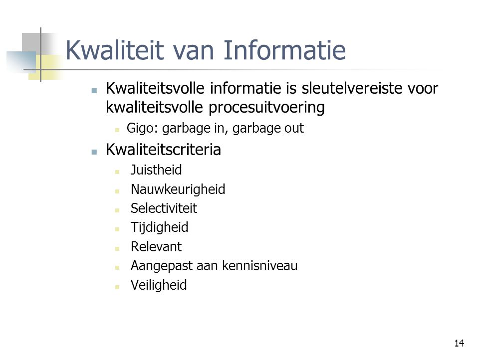 Kwaliteit van Informatie