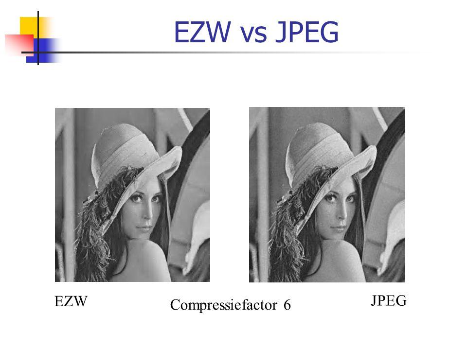 EZW vs JPEG EZW JPEG Compressiefactor 6