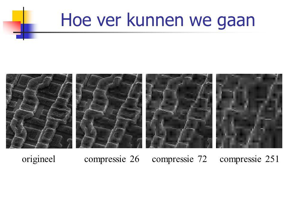 Hoe ver kunnen we gaan origineel compressie 26 compressie 72