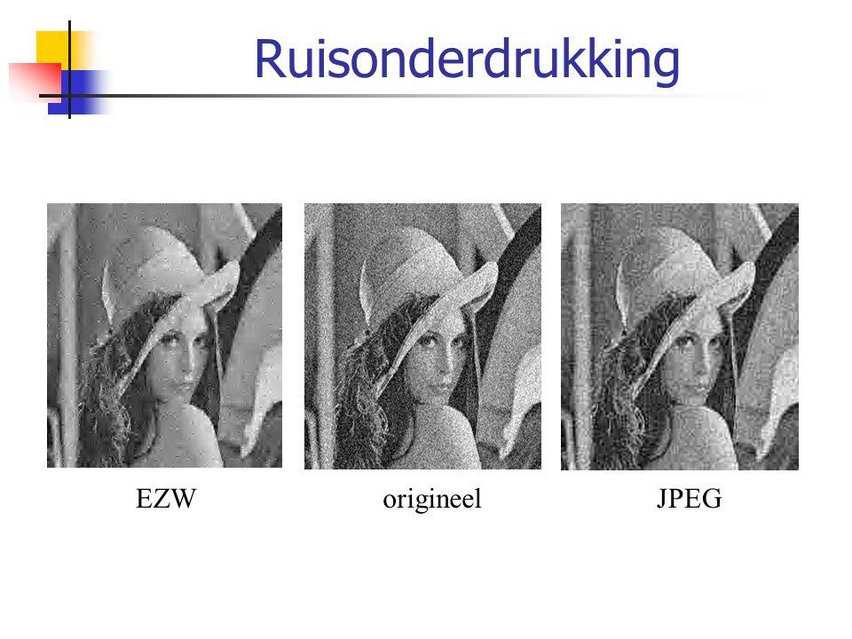 Ruisonderdrukking EZW origineel JPEG