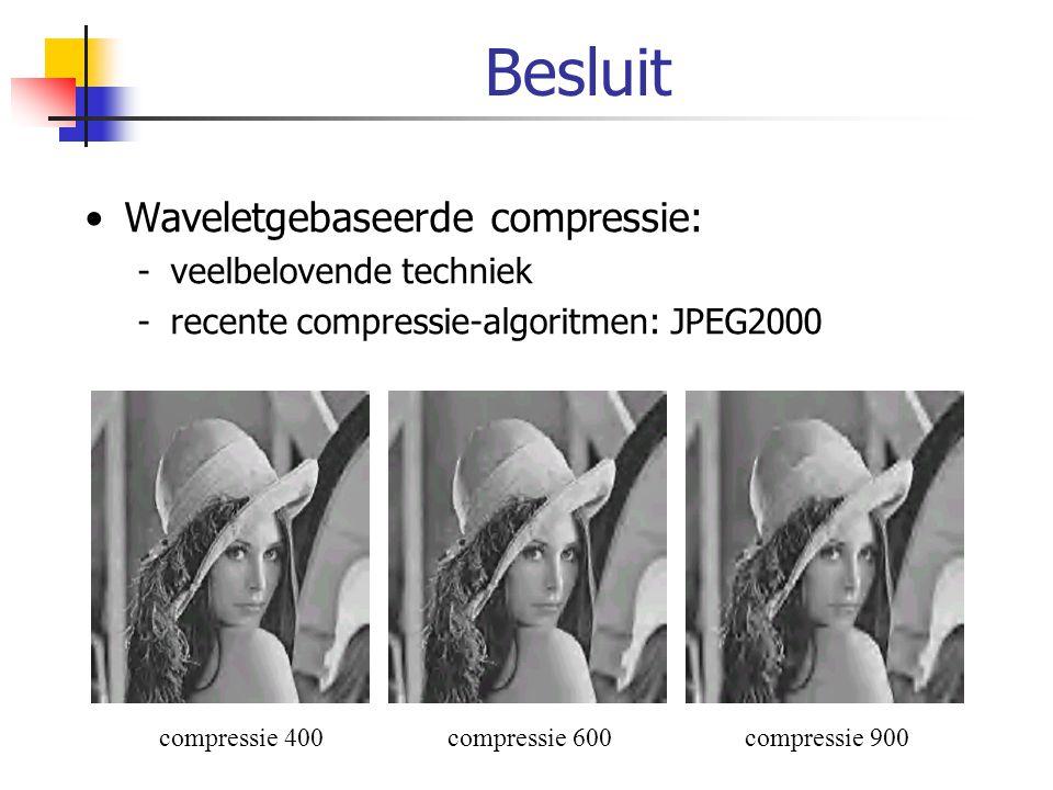 Besluit Waveletgebaseerde compressie: veelbelovende techniek