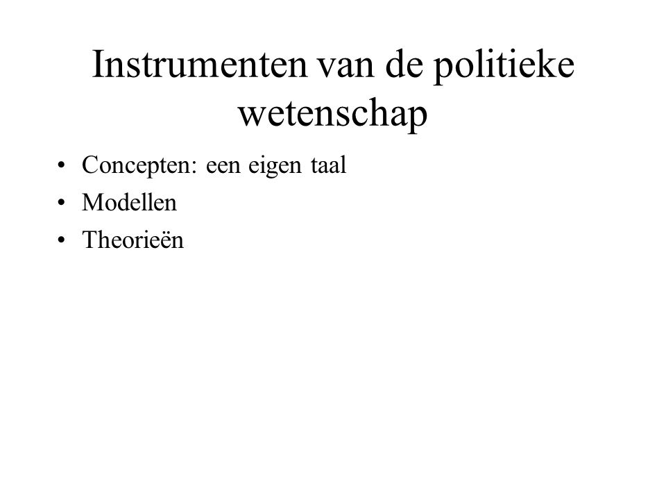 Instrumenten van de politieke wetenschap