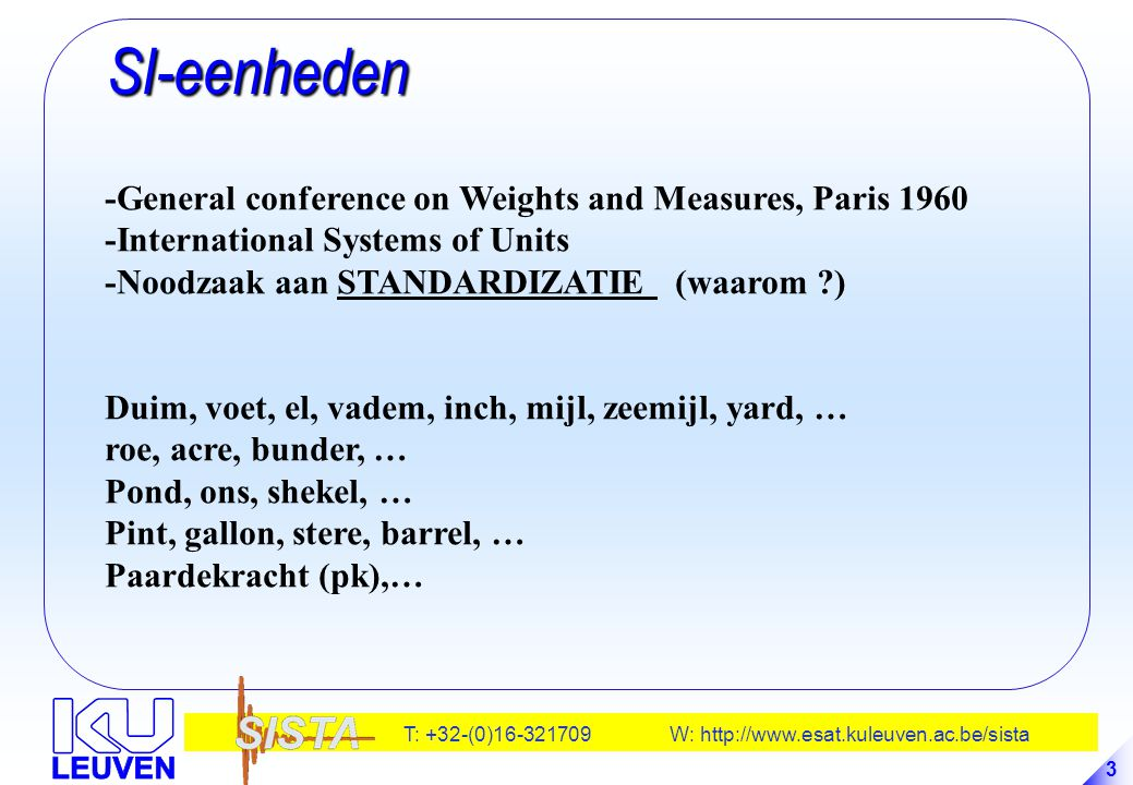 SI-eenheden -General conference on Weights and Measures, Paris 1960