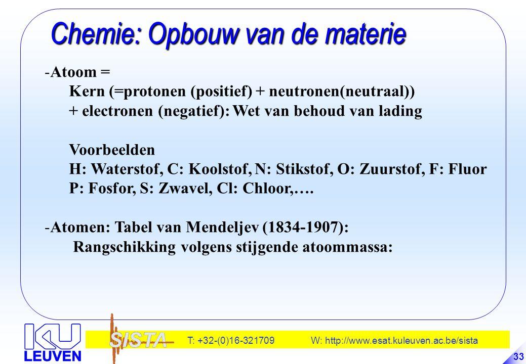 Chemie: Opbouw van de materie