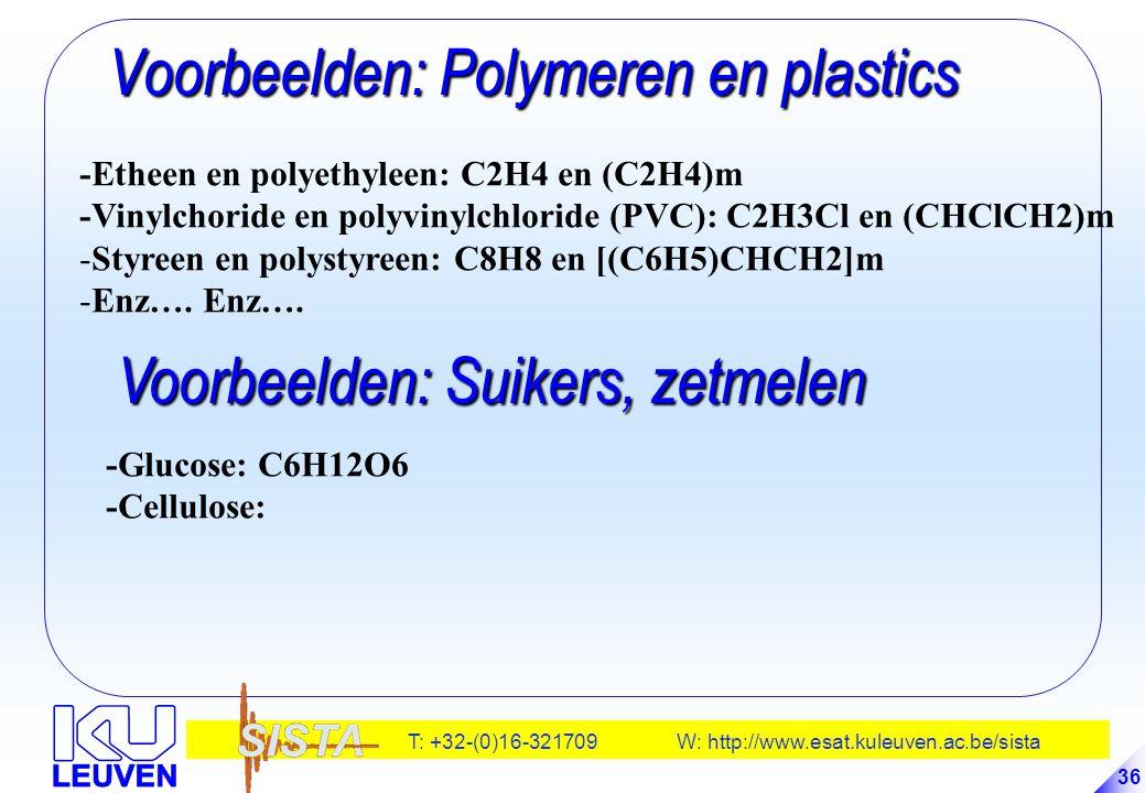 Voorbeelden: Polymeren en plastics